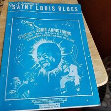1942 SAINT LOUIS BLUES SHEET MUSIC FEAT. LOUIS ARMSTRONG AND HIS ALL STARS.