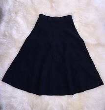 $148 NWT JCREW Womens 0 Midi Sweater Skirt  Navy Blue E4349