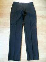 Banana Republic Women's Dress High Rise Pants SZ 8 Flat-Front Trouser Black Long