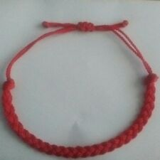 2 Red Braided Lucky  String Love  Adjustable Erik's Bracelets