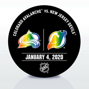 New Jersey Devils Game Used NHL Warm Up Puck 1/04/2020 vs.Colorado Avalanche!