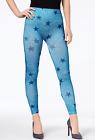 First Looks Womens Denim Star Seamless Leggings Size Medium / Large Blue - NWT