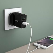Anker 24W 2-Port Dual USB Wall Charger and PowerIQ Technology Fast Charge Black