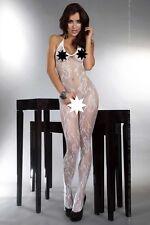 Bodystocking inguine aperto Eden bianca Tg S-L Livia Corsetti Sex shop lingerie