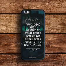 cat Alice in wonderland iPhone 6s Plus case 5s 5c SE 4s iPod HTC LG Samsung Case