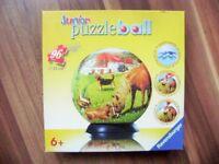 @ Ravensburger @ Junior-Puzzleball 96 Teile - auf der Pferdekoppel, ab 6 Jahre