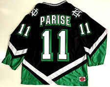ZACH PARISE NORTH DAKOTA FIGHTING SIOUX BLACK JERSEY MINNESOTA WILD 96275ef3aa9