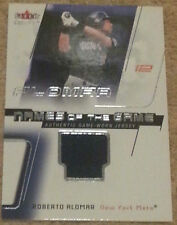 2002 Fleer Genuine Roberto Alomar Names of the Game game-used jersey card
