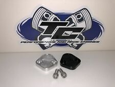 Chevy BBC 454 Ford Windsor 302 Billet Fuel Pump Block Off Plate Silver Black