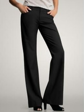 GAP *CURVY FIT* BOOT-FLARE STRETCH TROUSER DRESS PANTS BLACK SIZE 10 ANKLE