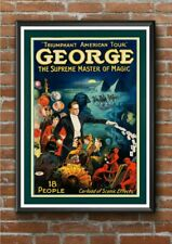 George Suppreme Master of Magic Poster Wall Painting Home Decor Gift Art Print
