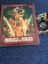 Emmanuelle And Francoise Blu Ray W/ Slip & George Eastman Pin Badge Severin Oop