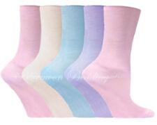 12 pairs Ladies womens Diabetic socks Non-Elastic 100 cotton gentle grip Colour