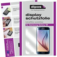 2x Samsung Galaxy S6 Schutzfolie klar Displayschutzfolie Vorderseite Folie dipos