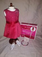 American Girl doll truly me tis the season red party dress velvet sparkles NEW!