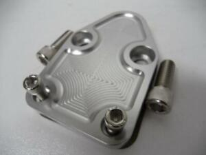 SMALL BLOCK CHEV FUEL BILLET PUMP BLOCK OFF PLATE SBC BLANKING COVER