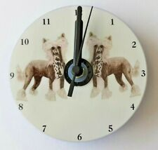 Chinese Crested CD Clock by Curiosity Crafts