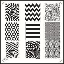 Moyou Nail Moda Stamping Nail Art imagen Placa 434 líneas de estilo urbano & Formas