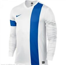 NIKE Boys Striker III Long Sleeve Jersey Top White/blue M 10-12 Years