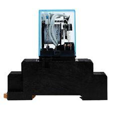 1 Set Relay MY4NJ DC 12V 5A With LED Indicador 14 Pin + Socket Base