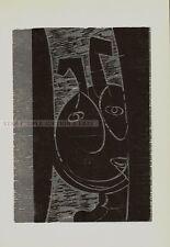 HAP GRIESHABER - FAUN III - original wood cut from 1970