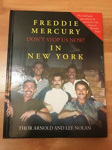 QUEEN Freddie Mercury BOOK Don't Stop Us Now! HARDCOVER SIGNED BOHEMIAN RHAPSODY