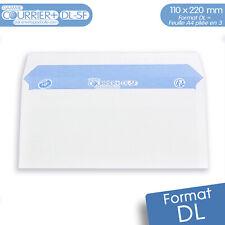 Lot de 500 Enveloppes blanches DL - gamme Courrier+ (sans fenêtre)
