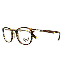 Persol Glasses Frames PO3109V 938 Green Striped Brown 49mm Mens