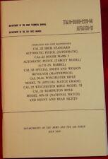 Caliber 22 High Standard Ruger MK I Auto Pistol Maintenance Book TM9-1005-226-14