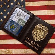 Resident Evil Stars Raccoon Police Dep. Metal Badge With ID Wallet Holder Case
