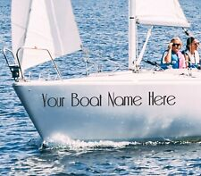 Boat Name Decal Vinyl Sticker Kayak Canoe Custom Sailboat Name Vinyl Decals (x2)