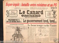 CANARD ENCHAINÉ Birthday Newspaper JOURNAL NAISSANCE  27 JUILLET JULY 1983
