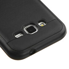 Samsung Galaxy Core Prime G360 - HARD TPU HYBRID BRUSHED METAL BLACK CASE COVER