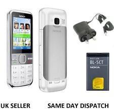 NUOVO Nokia 5mp Bianco c5-00 Brand Radio FM Bluetooth 3g Telefono Cellulare Sbloccato