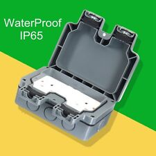 Waterproof Outdoor 13A 2Gang Storm Switched Socket Double IP65 Outside Use