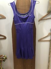 New Nike Serena Williams Sleeveless Dri Fit Purple Pleats Womens XS Tennis Dress