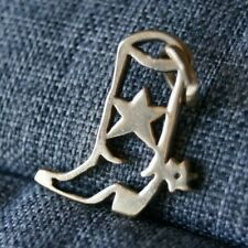 *Retired* James Avery 14k Yellow Gold OPENWORK COWBOY SPUR BOOT Charm