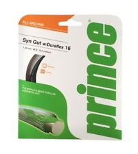 New Prince Classic synthetic gut 16 w/Duraflex,durable &all around,gold,1 set pk