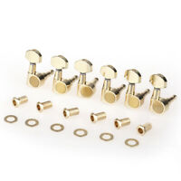 Musiclily Pro Gold 6 Inline Sealed Dual Pin Guitar Tuning Machine Head For Strat