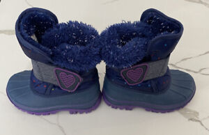 Toddler Girl's Winter Boots Thermolite Purple Blue Size 6