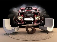 Hot Rod Smoke Background Wall art Home Room Decor Print Paper POSTER Interior