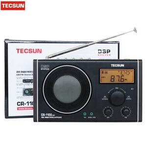Original Tecsun CR-1100 DSP AM/FM Stereo Radio Digital Clock Display Digital Rec