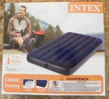 New Intex Twin Size Classic Downy Inflatable Air Bed Mattress 68757WS (Blue) NIB