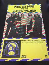King Gizzard And The Lizard Wizard: Flying Microtonal Banana Poster, Rare! ATO!