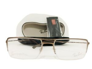 RAY BAN LIGHTRAY MATTE BRUSHED Brown AUTHENTIC EYEGLASSES RB 8713 1157 53-17 140
