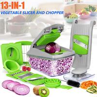 13-IN-1 Vegetable Chopper Slicer Onion Dicer Veggie Fruit Kitchen Cutter Tools