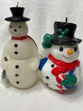 Christmas Snowman Candles Set Of 2