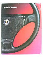 Prospekt Saab Programm: 900, 9000, 1988, 6 Seiten, folder, englisch für USA