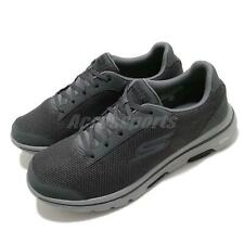 Skechers Go Walk 5-Demitasse Grey Black Men Walking Casual Shoes 55519-CCBK