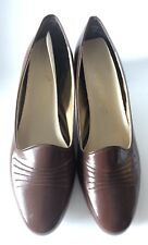 Charm Step Vintage Solid Brown Low Heels Size 9.5 M 60's 70's Mod Dead Stock